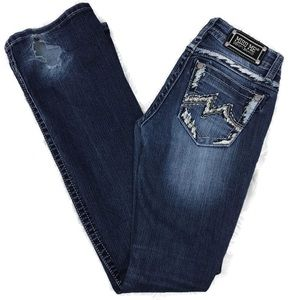 Miss Me Jeans Size 26 with dragwear